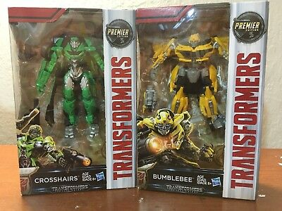 Transformers The Last Knight Deluxe Premier Wave 4 Crosshairs Bumblebee Set