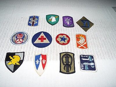 LOT OF 12 Military Patches Army,air Force,etc   From Avid Collector Lot#55