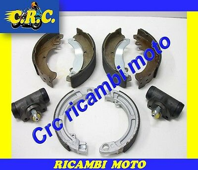 Set Brake Shoes Front And Rear + Cylinders Piaggio Ape 50 Tm P 50
