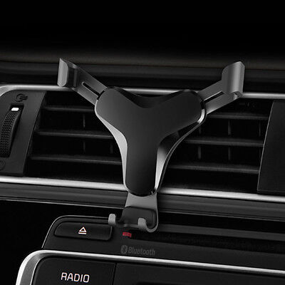Universal Gravity Car Mount Holder Stand Air Vent Cradle For Mobile Cell Phone @