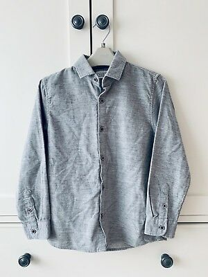 BNWT New NEXT BOYS GREY LONG SLEEVE Thick SHIRT Soft Touch AGE 8 YRS Warm Winter