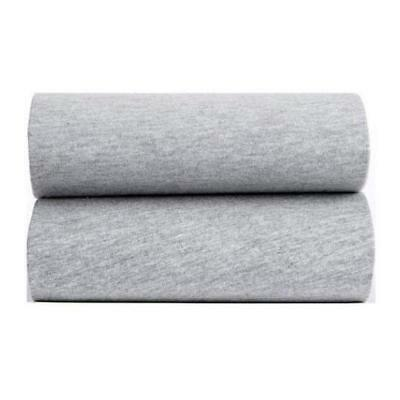 Clair de Lune 100% Jersey Cotton Baby Fitted Sheets Pack of 2 - GREY MARL
