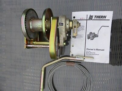 Thern Spur Gear Hand Winch  M4311PB   Heavy Duty 2000lb   Military Grade