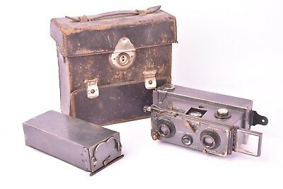 Camera stereo Verascope for Jules Richard with case, 2 back stores