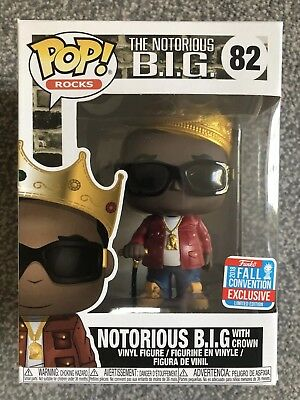 Nycc 2018 Funko Pop! Vinyl Exclusive Notorious B.i.g. Biggie Crown