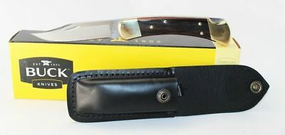 Buck 110BRS Folding Hunter 110 with Leather Sheath