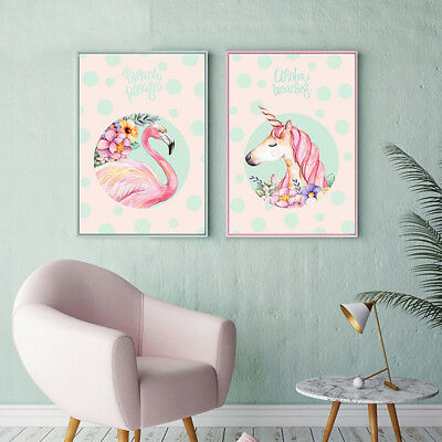 Unframed Flamingo Animal Home Wall Art Canvas Picture Poster Paintings Decor