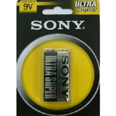 Sony 9V Battery Ultra Heavy Duty Carbon Zinc Cell Pp3 Block S006Pb1A 9 Volt