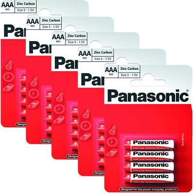 20 x AAA Genuine PANASONIC Zinc Carbon Batteries - New LR03 1.5V MN2400 05/2020