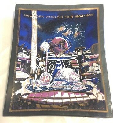 Vintage NEW YORK World's Fair Exposition 1964 1965 Souvenir Glass Dish HOUZE ART