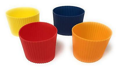 Pack Of 4 Heat Resistant Insulated Silicone Protective Coffee Cup Sleeve