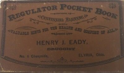 Dr Simmons Liver Regulator Medicine Almanac Remedy Eady Druggist Elyria Ohio
