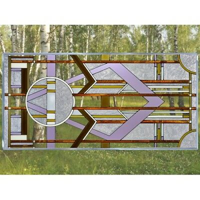 "Deco Tectural Glass Window Panel Horizontal 42"" x 20.5"" Architectural Decor"