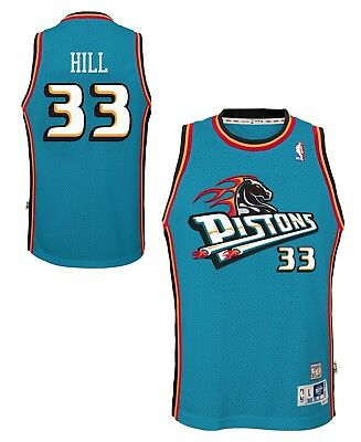 ee77beef0f6 Grant Hill Detroit Pistons NBA Youth Throwback Swingman Jersey - Teal