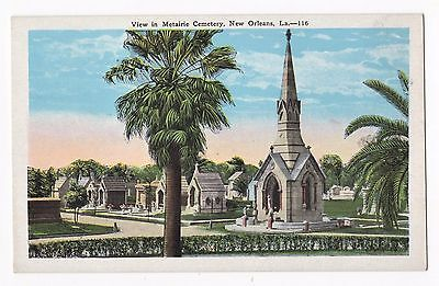 Early 1900s Vintage New Orleans Postcard Metairie Cemetery View - Louisiana