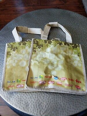 TWO Kroger Earthwise 6 Bottle Wine Tote / Carrier Bags Reusable
