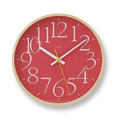 Lemnos AY Clock Brown LC09-17 RE Wall Clock Japan +Tracking Number