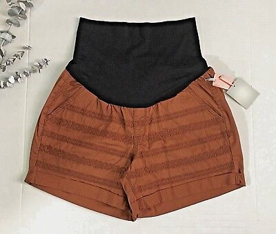 NWT Women's Maternity Shorts with full Belly Panel   SIZE 12