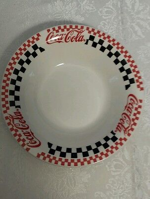 "Coca Cola Gibson Red & Black Checkered 8"" Soup Bowl--1996"
