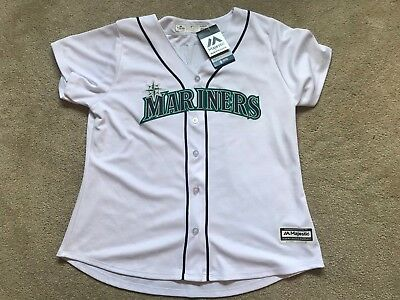 7e2429564b6 ... spain new ichiro suzuki seattle mariners womens nwt jersey cool base  majestic xl 9c5f8 0685b