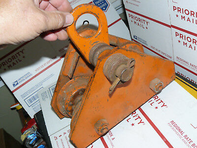 Yale Towne Model FW 1/2 Ton I Beam Trolley Pulley & Hoist Support adjustable