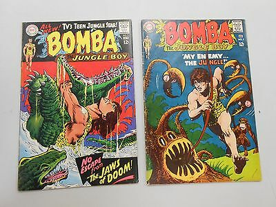 Bomba the Jungle Boy #1 (Sep-Oct 1967, DC)! FN6.5+ bonus issue #3! CHECK IT OUT!