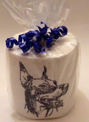 DOBERMAN PINSCHER SKETCH! Embroidered Toilet Paper; makes you smile!