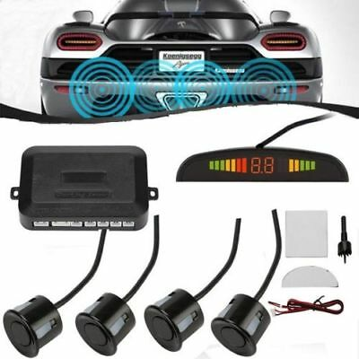 4 Sensors Car Parking Radar Alarm Sensor LED Display Reverse Backup Radar System