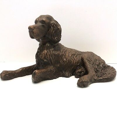 Red Mill Irish Setter Dog Figurine Handcrafted Pecan Shells Resin
