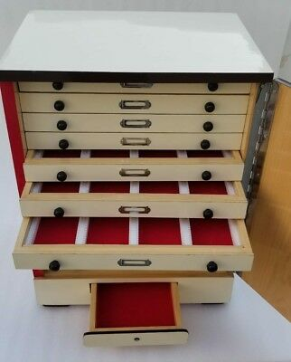 Brand New Wooden Microscope Slide Storage Cabinet for 2400 Slides