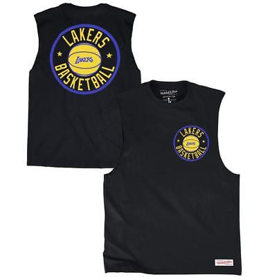 Los Angeles Lakers Mitchell   Ness NBA Full Circle Muscle T-Shirt - Black 893501e1a