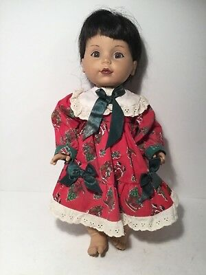 """Vintage Doll, Baby So Beautiful 14"""", Brunette Wig, Asian? Rubber Body"""