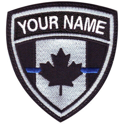 Thin Blue Line Canada Custom Crest Embroidered Patch