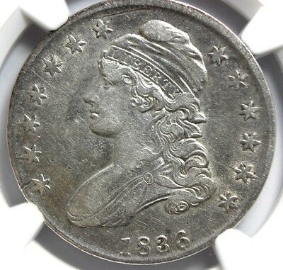 """1836 Lettered """"early Half-Dollar, 50C,  Ngc Xf Detail,  Cleaned"""
