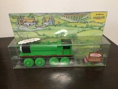 1992 Shining Time Wooden Thomas Train Henry With Box Checklist And Warranty