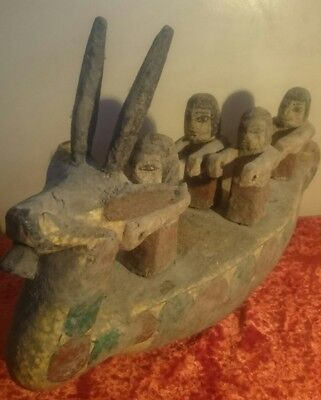 Replica Rare Antique Ancient Egyptian wooden boat 2050 - 1800 BC