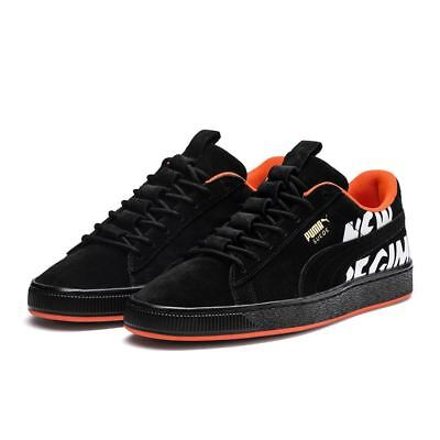 Puma x Atelier New Regime Collaboration Suede Black Men s Sneakers NEW 2921eac7f