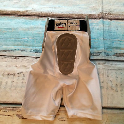 NEW Schutt Padded Football Compression Shorts White Size Youth Medium