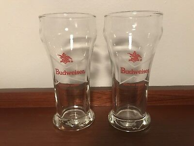 Pair Of Vintage Budweiser King Of Beers Glasses Libbey Glass Beer