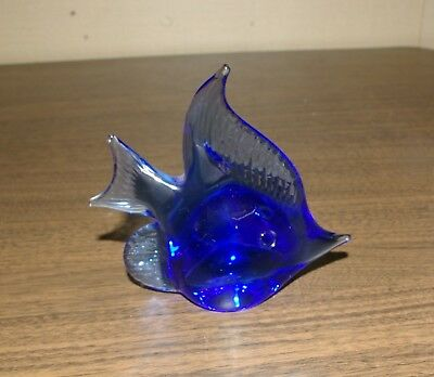 Glass Angel Fish Cobalt Blue