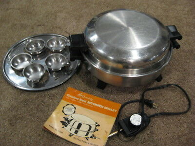 Society Ss Automatic Skillet Liquid Core W/poached Egg Insert Regal Ware