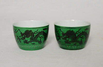 Pr. Chinese  Monochrome  Green  Glaze  Porcelain  Cup  With  Mark     M2999