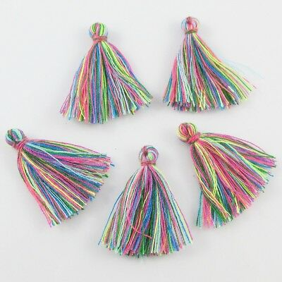 Magic Rainbow Cotton Tassel Approx 25-30mm For Earring, Bracelet & More Bulk Qty
