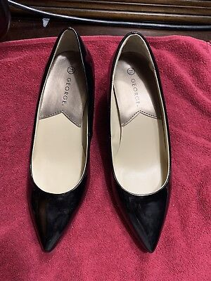 6248326a5 George Women's Classic Mid Heeled Pump Dress Shoe Black Size 7 1/2 NEW