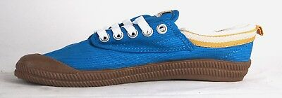 Volley International Men's Sneakers Casual Lace Up Shoes Canvas Blue/Gold