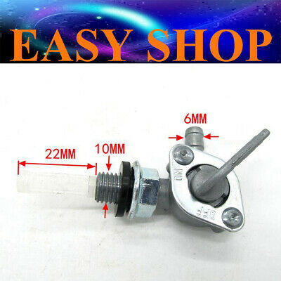 10mm Fuel Petrol Gas Tank Replacement Tap Petcock ON/OFF Switch Generator Mower