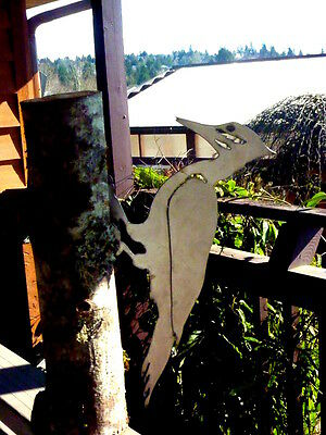 Cut Metal Rusty Pileated Woodpecker Bird Garden Home Yard Outdoor Lawn Art Decor