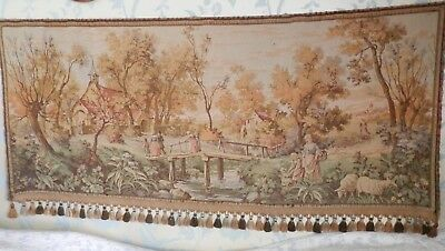 Large Vintage French Gobelin Verdure Tapestry Wall Hanging, 164 cm x 73/80 cm