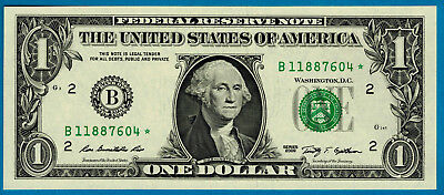 USA, 2009, One Dollar STAR (Replacement) Banknote, Choice UNC