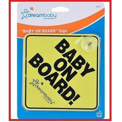 ❤ Brand New DreamBaby Dream Baby BABY ON BOARD SIGN Car Safety ❤